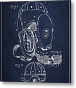 Vintage Football Helment Patent Drawing From 1927 Metal Print by Aged Pixel