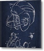 Vintage Football Helment Patent Drawing From 1935 Metal Print by Aged Pixel