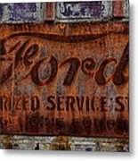 Vintage Ford Authorized Service Sign Metal Print