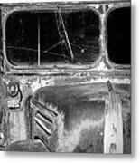 Vintage Ford Bus In Minnesota Metal Print