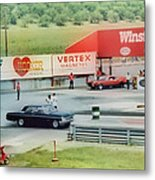 Vintage Ford Drag Racing Metal Print