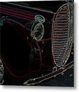 Vintage Ford Neon Art Grill Metal Print
