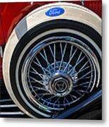 Vintage 1931 Ford Phaeton Spare Tire Metal Print