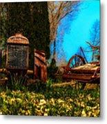 Vintage Fordson Tractor Metal Print