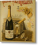 Vintage French Poster Andrieux Wine Metal Print