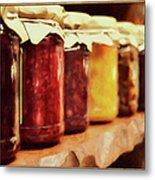 Vintage Fruit And Vegetable Preserves I Metal Print