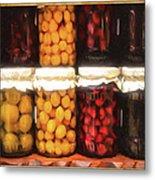 Vintage Fruit And Vegetable Preserves II Metal Print