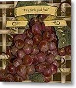 Vintage Fruit Of The Vine Metal Print