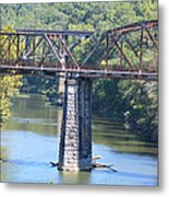 Vintage Garden City Bridge Metal Print