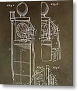 Vintage Gas Pump Patent Metal Print