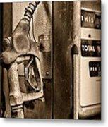 Vintage Gas Pump Showing Its Age Metal Print