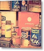 Vintage Gas Service Station Products Metal Print
