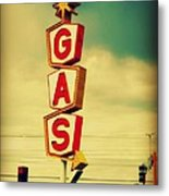 Vintage Gas Sign Metal Print