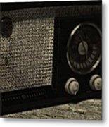 Vintage Ge Radio Metal Print