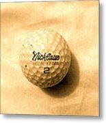 Vintage Golf Ball Metal Print