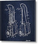 Vintage Golf Cart Drawing From 1943 Metal Print