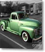 Vintage Green Chevy 3100 Truck Metal Print