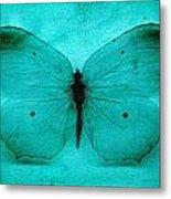 Vintage Grunge Butterfly Metal Print