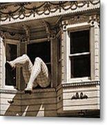Vintage Haight And Ashbury San Francisco Metal Print by RicardMN Photography