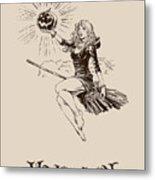 Vintage Halloween Illustration Metal Print