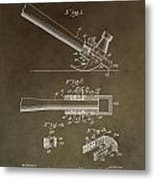 Vintage Hammer Patent Metal Print
