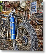 Vintage Harley With Nos Metal Print