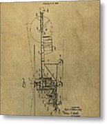 Vintage Helicopter Patent Metal Print