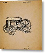 Vintage Henry Ford Tractor Patent Metal Print
