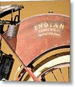 Vintage Indian Bike Metal Print