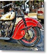 Vintage Indian Motorcycle - Live To Ride Metal Print