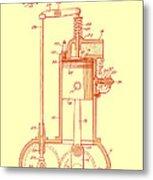Vintage Internal Combustion Engine Patent 1940 Metal Print