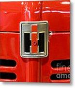 Vintage International Harvester Tractor Badge Metal Print