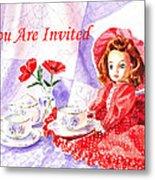 Vintage Invitation Metal Print by Irina Sztukowski