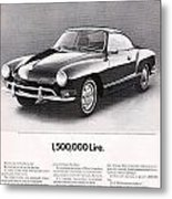 Vintage Karmann Ghia Advert Metal Print
