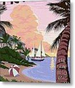 Vintage Key West Travel Poster Metal Print