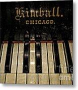 Vintage Kimball Piano Metal Print