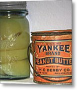 Vintage Kitchen Pantry Pairs And Peanut Butter Metal Print