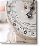 Vintage Kitchen Scale Metal Print