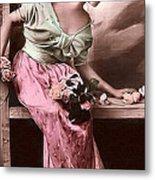 Vintage Lady Rose  Limited Sizes Metal Print