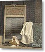 Vintage Laundry Room II By Edward M Fielding Metal Print
