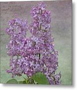 Vintage Lilacs Metal Print