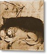 Vintage Lion Of Lucerne Metal Print