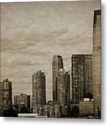 Vintage Manhattan Skyline Metal Print