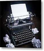Vintage Manual Typewriter Metal Print