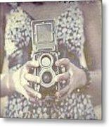 Vintage Medium Format Camera Metal Print