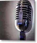 Vintage Microphone 2 Metal Print