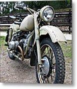 Vintage Military Motorcycle Metal Print