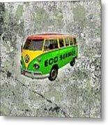 Vintage Minibus Metal Print