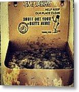 Vintage Mr. Butt Snuffer Ashtray Metal Print