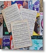 Vintage Music Sheets No.2 Metal Print